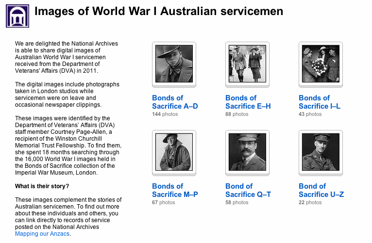 National Archives of Australia Flickr WW1 Servicemen