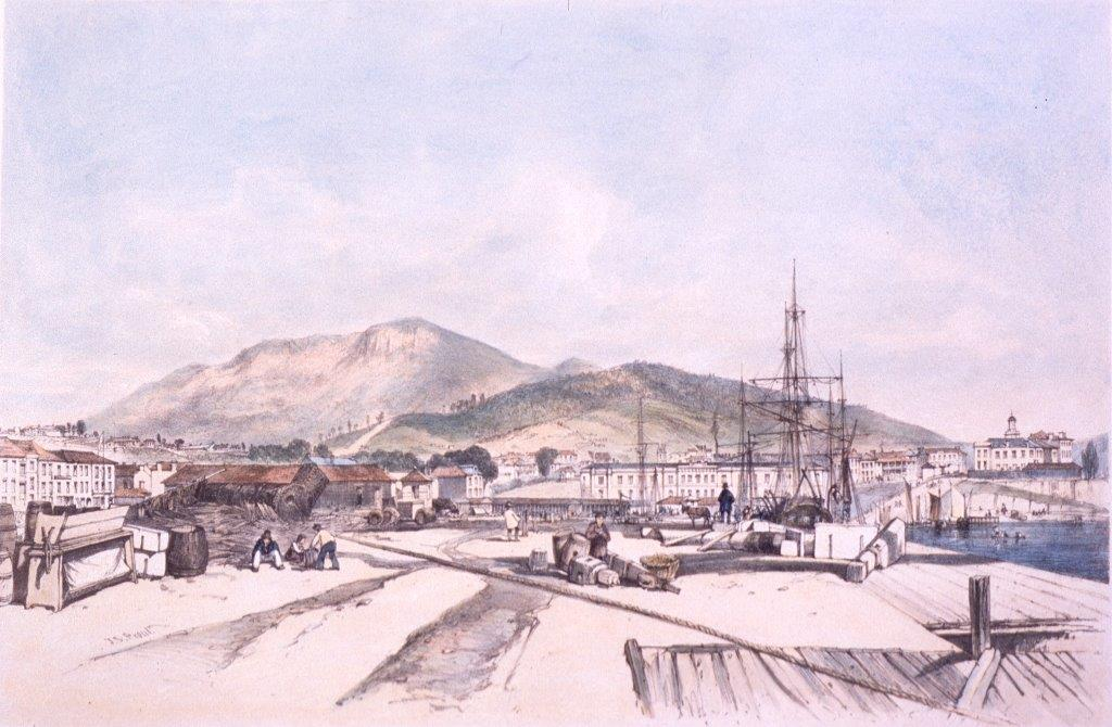 Hobart Town from Wharf