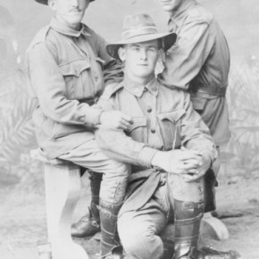 Portrait of the three McClymont brothers