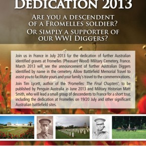Fromelles Dedication 2013