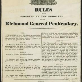 Richmond Penitentiary Rules