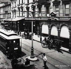 Tram and blockboys in Sydney