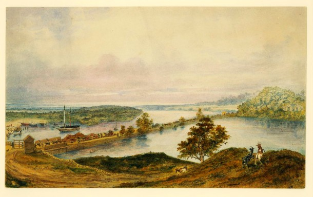 The Cooks River Sydney c1858-1862, showing the dam across the river at Tempe, courtesy State Library of Victoria Acc No: H83.50/8