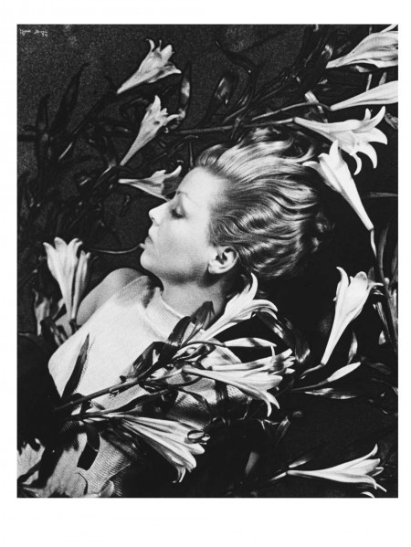 Ilse Bing in perfume advertisement