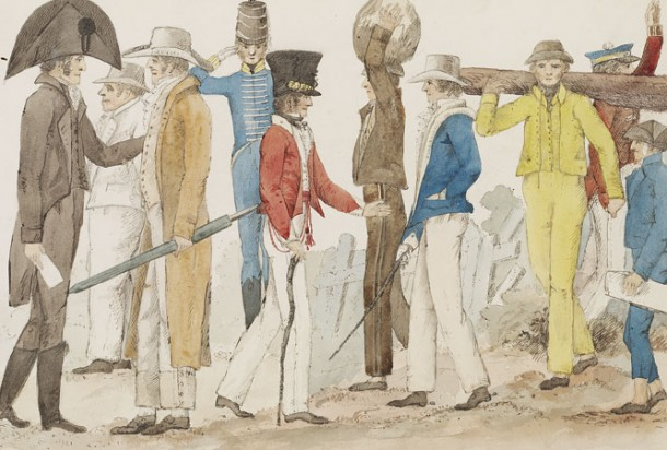The Costume of the Australasians by Edward Close, 1817-1849 (c). Courtesy of State Library of NSW.