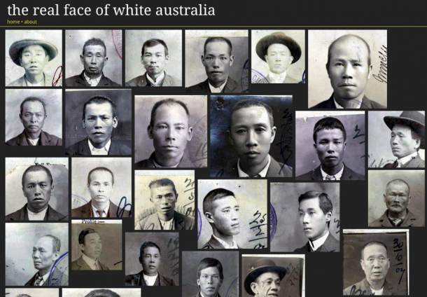 The faces of those affected by the White Australia Policy: Tim Sherratt's project, Invisible Australians, used digital images to build a patchwork of photograph