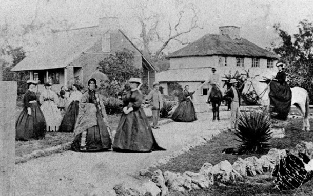 Photograph of members of the Bussell family, circa 1867. Courtesy of State Library of Western Australia.