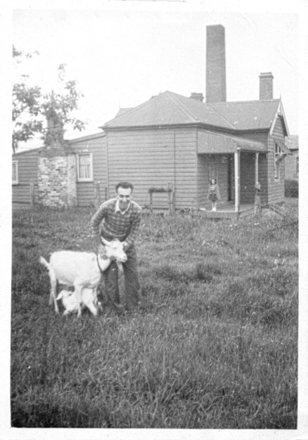 Robert on his parents' farm in western Sydney in 1941. Courtesy of Mark Tedeschi.