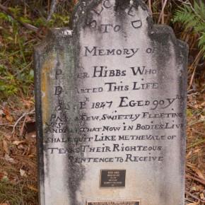 Peter Hibbs's headstone