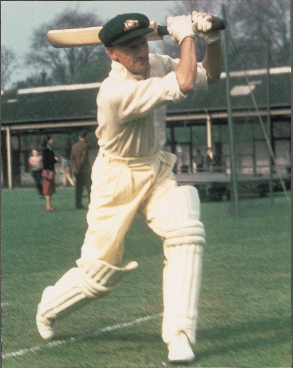 A rare colour photograph taken of Don Bradman during the 1948 tour of England. Courtesy Bradman Foundation.