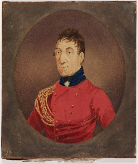 Governor Lachlan Macquarie, by Richard Read Snr, 1822. Courtesy State Library of NSW.