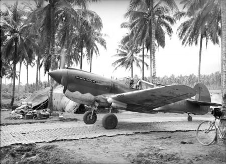 A P-40 Kittyhawk at Milne Bay in September 1942. Courtesy Australian War Memorial