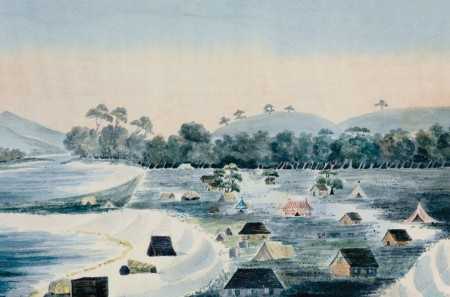 Swan River Colony by Mary Ann Friend (modern day Fremantle) 1830. Courtesy of State Library of WA.