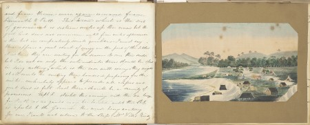 Pages from Mary Ann Friend's journal. Courtesy of State Library of WA.