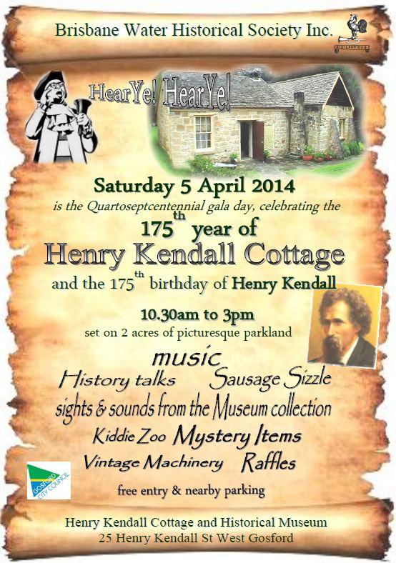 Henry Kendall Cottage Quartoseptcentennial Gala Day