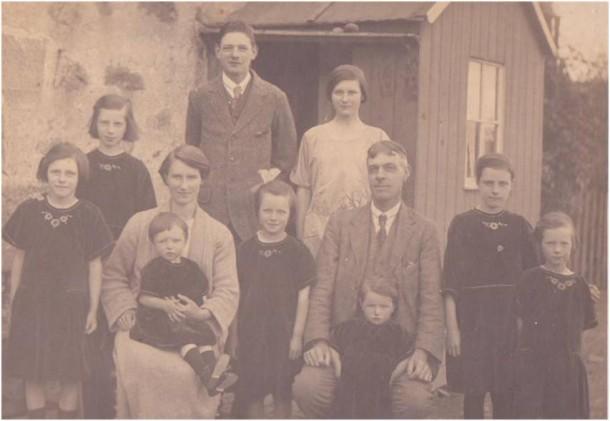 The Gilmore family leaving Scotland