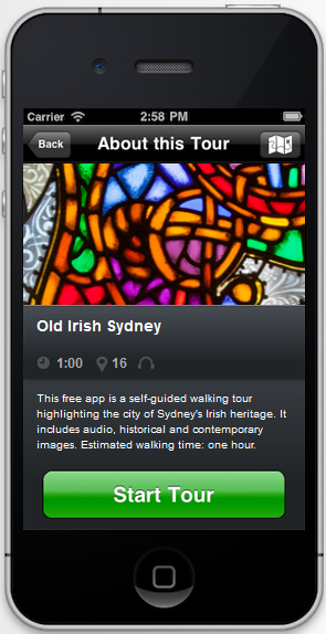 Old Irish Sydney app. Click on the image to download the app for free.