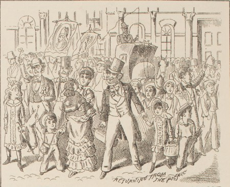 St Patrick's Day in Sydney, 1880. Courtesy State Library NSW.