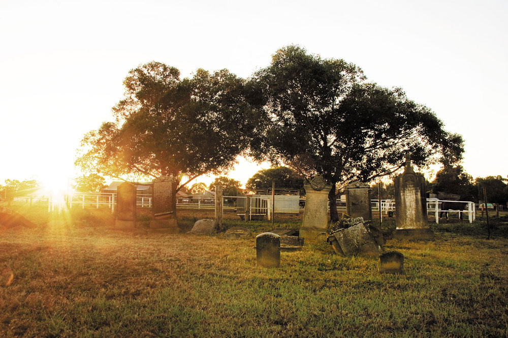 Maitland Jewish Cemetery in 2010. Courtesy David Guy, Synchro.