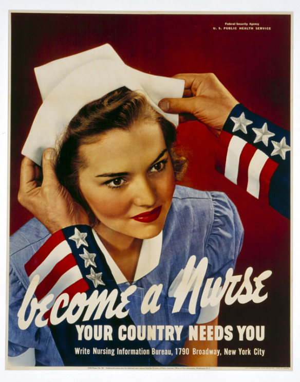 Weslee Wootten D'Audney on famous WWII Propaganda Poster. Courtesy Australian National Maritime Museum.