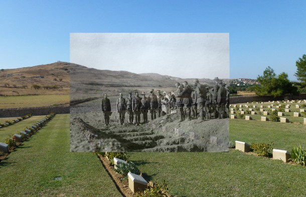 The Cemetery at Lemnos. Reading the Burial Service | Courtesy of the State Library of NSW