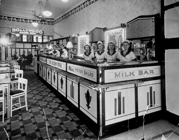 The Golden Star Milk Bar, Hay Street, Perth, WA. c. mid 1930s.