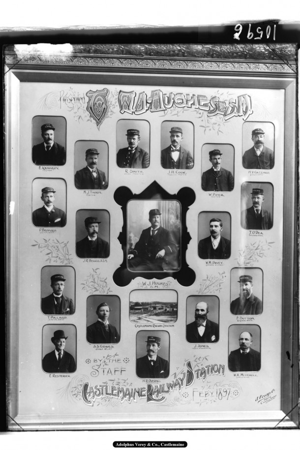 Victorian Railways Employees photographed by Verey, 1897. Courtesy Verey Collection and Frank Mitchell.