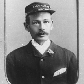 D Bedford, a signalman, 1897. Courtesy Verey Collection and Frank Mitchell.