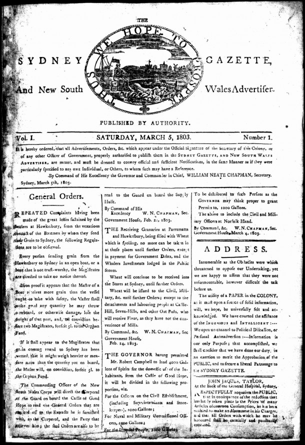 The_Sydney_gazette_and_New_South_Wales_advertiser-first_issue_5_March_1803