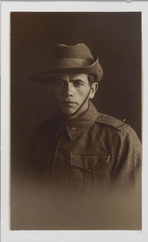 Portrait of serviceman Alfred Duroux, c.1918-1919. Courtesy State Library of NSW, ID a871419.
