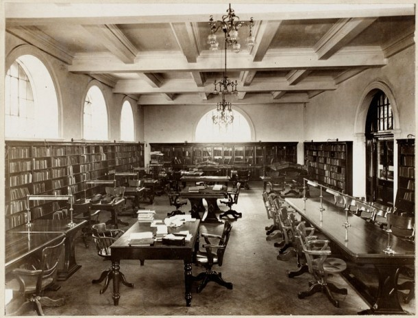 The Mitchell Library Reading Room, c.1911-12. Courtesy State Library of NSW, ID a1528225.
