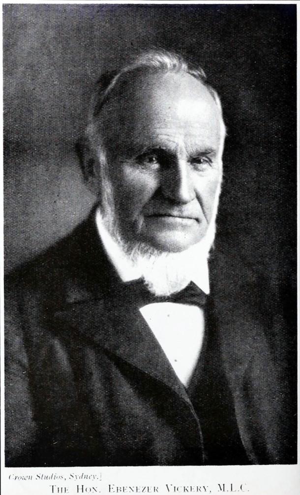 A portrait of Ebenezer Vickery taken in Crown Studios, Sydney. Courtesy University of Wollongong Archives.