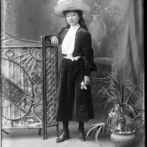 Unknown woman, with surname identified as Wagstaff.  Date unknown. Courtesy Verey Collection.
