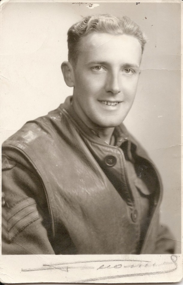 A beloved personal portrait: this photograph depicts Jayne's father, taken after D-Day. Courtesy Jayne Shrimpton.