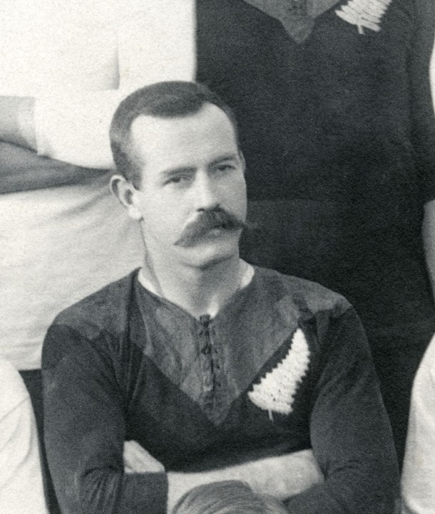 David Gallaher, captain of the famous All Blacks team from 1905, was killed at Passchendaele in 1917. Courtesy Archives New Zealand.