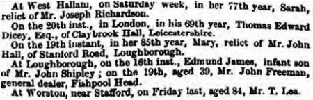 Nottinghamshire Guardian 25 Feb 1858
