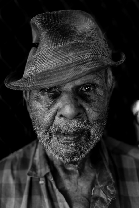 Uncle Billy Lou. Portrait by Asher Milgate.
