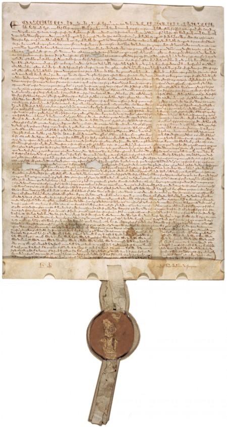 1297 Magna Carta. Courtesy Wikimedia Commons.