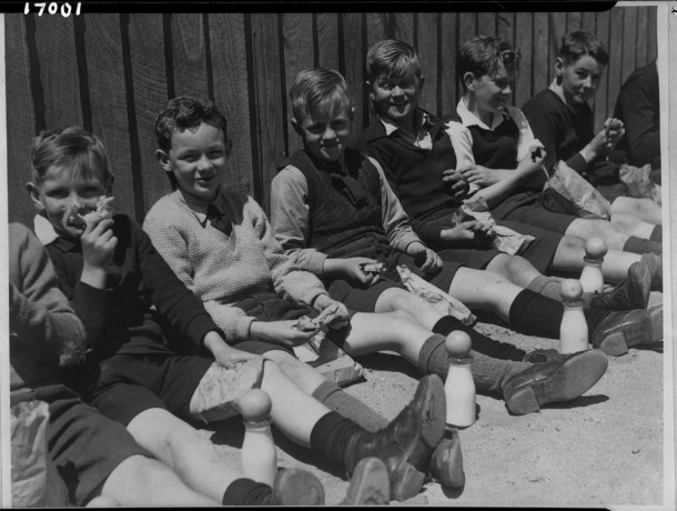 Boys in the playground, school unknown. Courtesy PROV, VPRS 14514 P2 Unit 1.