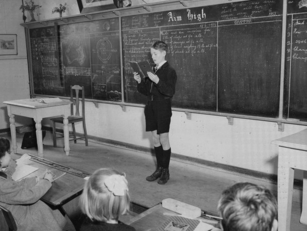 Reading at Brunswick East Primary, 1953. Courtesy PROV VPRS 14514 P2 Unit 42.