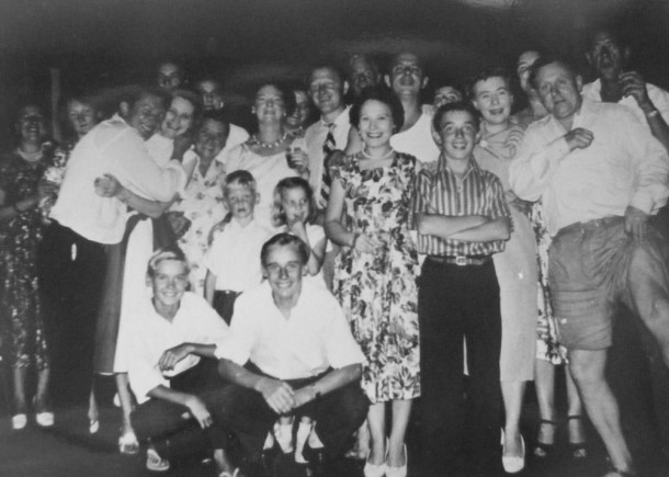 A Boxing Day celebration at Bunnerong Migrant Hostel, 1955. Courtesy RAHS Photograph Collection.