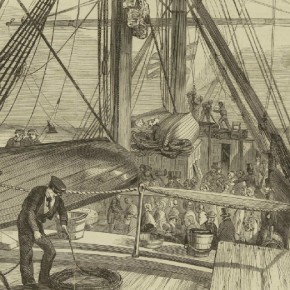 The Culloden set sail for Port Phillip in August 1850. Courtesy Allen & Unwin/Illustrated London News.