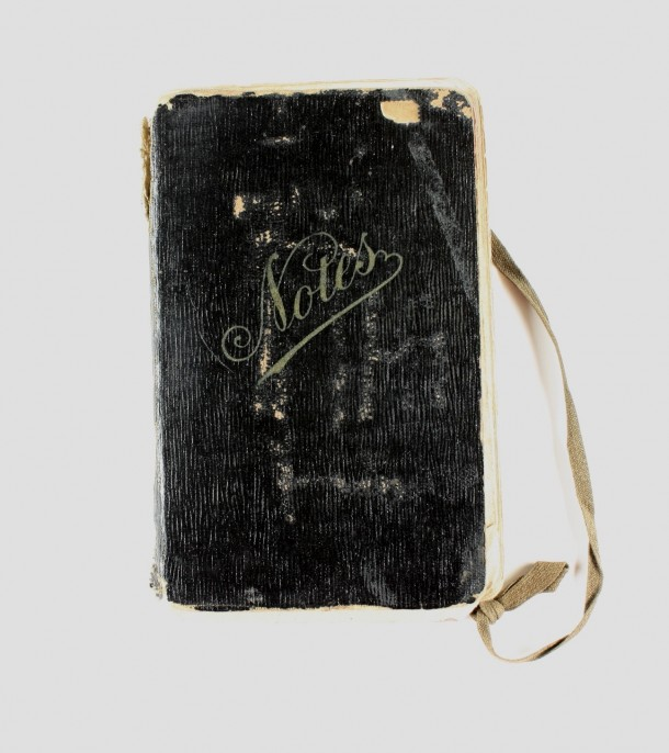 The diary in which Claude Ewart wrote while stationed at the Somme. Courtesy Museum Victoria Collection, ID 366102.