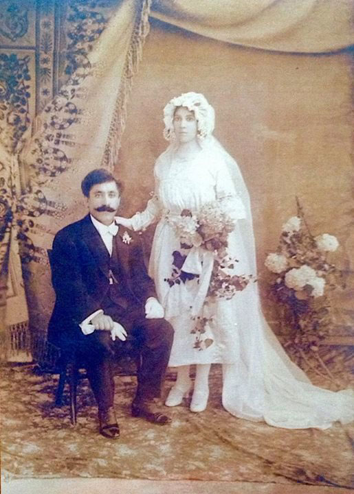 Giuseppe and Anna pictured on their wedding day in 1920.