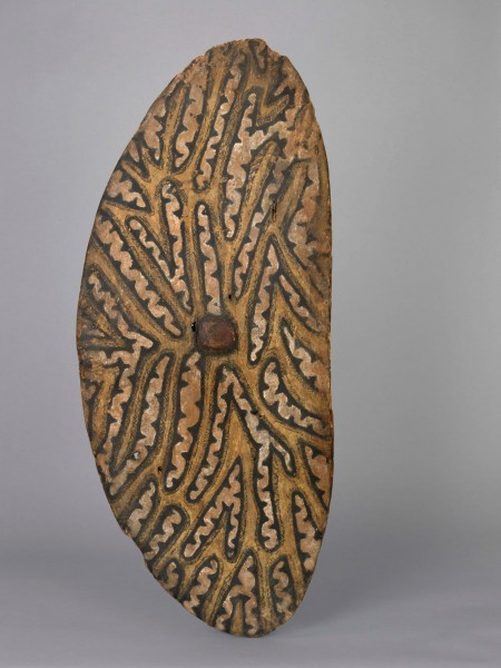 Wooden shield from Shoalhaven, NSW. Likely to have been collected by Henry Moss, c.1809.