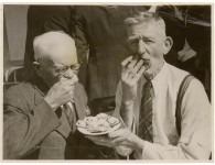 Two gentlemen digging in, c.1930-50. Image courtesy State Library NSW, ID a368001h.