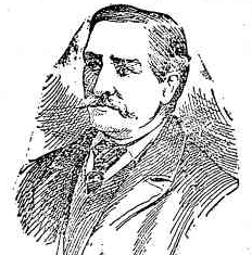 A courtroom sketch of Rudolph Knorr, from the Cootamundra Herald, 25 November 1893. Courtesy Trove.