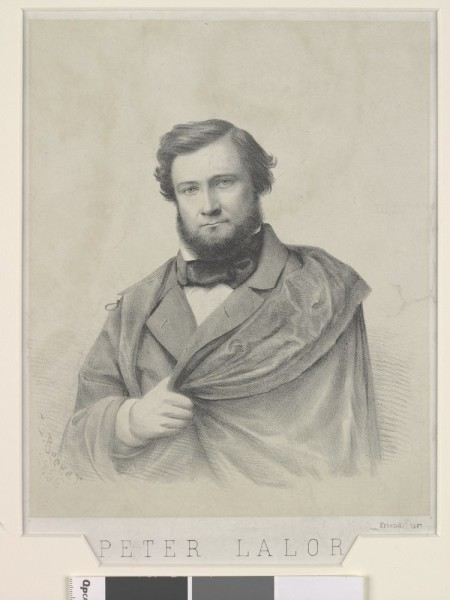 Peter Lalor, pictured in 1856. Courtesy State Library of Victoria, ID H5601.
