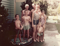 The Rolley and Croker families cool off, 1972. Courtesy State Library QLD.