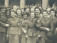 Women of the AWAS celebrate Victory Day. Courtesy Joan Weir.